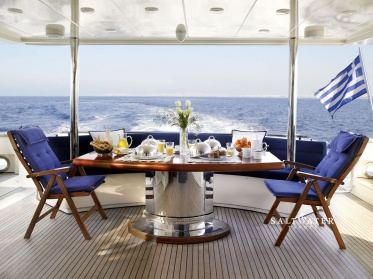 Dream B luxury motor yacht for charter in Greece and Mediterannean. Saltwater Yachts