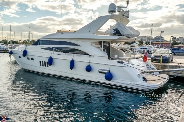Princess 21M Used Motor Yacht for Sale in Greece. Saltwater Yachts