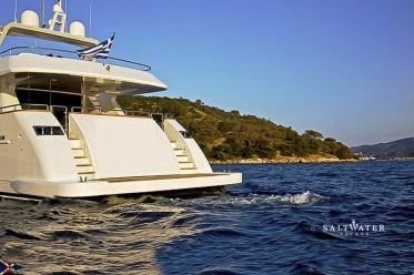 Tecnomar 100 used motor yacht for sale in Greece. Saltwater Yachts